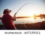 fishing as recreation and... | Shutterstock . vector #647159311