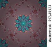 vector textile print for bed... | Shutterstock .eps vector #647159875