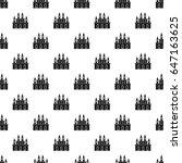 medieval castle pattern... | Shutterstock . vector #647163625