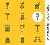 vector illustration of 12... | Shutterstock .eps vector #647171269