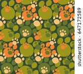camouflage seamless pattern....   Shutterstock .eps vector #647172589