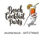 alcohol cocktail sex on the... | Shutterstock .eps vector #647174665