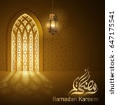 ramadan islamic greeting mosque ... | Shutterstock .eps vector #647175541