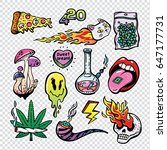 Fashion Patch Badges Set With...