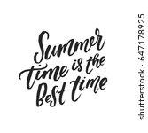 trendy hand lettering poster.... | Shutterstock .eps vector #647178925