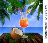 tropical vector background | Shutterstock .eps vector #647179591