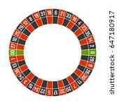 roulette casino wheel template... | Shutterstock . vector #647180917