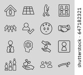 people icons set. set of 16... | Shutterstock .eps vector #647182321