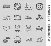 swim icons set. set of 16 swim... | Shutterstock .eps vector #647188291