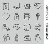 health icons set. set of 16... | Shutterstock .eps vector #647189854