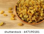 golden grapes on a plate with... | Shutterstock . vector #647190181