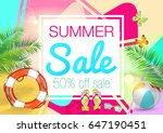 sale. summer. | Shutterstock .eps vector #647190451
