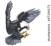 eagle emblem isolated on white... | Shutterstock .eps vector #647194171
