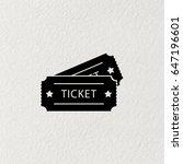 ticket icon. vector... | Shutterstock .eps vector #647196601
