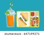 the concept of a healthy... | Shutterstock .eps vector #647199271