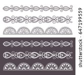 ornamental seamless borders set.... | Shutterstock .eps vector #647199559