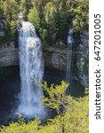 fall creek falls state park in... | Shutterstock . vector #647201005