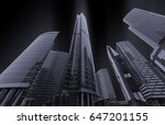 city high rise buildings ... | Shutterstock . vector #647201155
