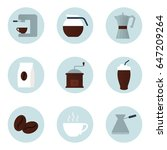 coffee set of icons | Shutterstock .eps vector #647209264