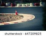corner of the gokart track with ... | Shutterstock . vector #647209825