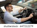 man using gps navigation system ... | Shutterstock . vector #647212279