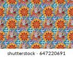 varicolored raster seamless... | Shutterstock . vector #647220691