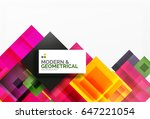 corporate vector business... | Shutterstock .eps vector #647221054