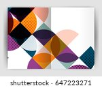 abstract circle design business ... | Shutterstock .eps vector #647223271