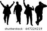 man silhouette raster version   Shutterstock . vector #647224219