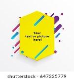 vector background with yellow... | Shutterstock .eps vector #647225779