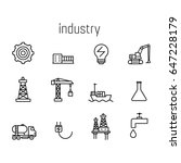 industry line icon set. | Shutterstock .eps vector #647228179