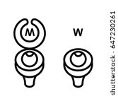 wc icon   toilet sign in funny... | Shutterstock .eps vector #647230261