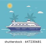 the cruise liner in flat style... | Shutterstock .eps vector #647230681