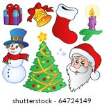 various christmas images  ... | Shutterstock .eps vector #64724149