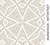 seamless geometric line pattern.... | Shutterstock .eps vector #647247667