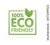 Eco Friendly Green Leaf Label...