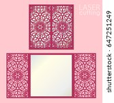 laser cut wedding invitation... | Shutterstock .eps vector #647251249