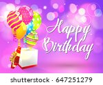 birthday. happy birthday. | Shutterstock .eps vector #647251279