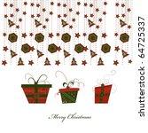 vector gift boxes  christmas... | Shutterstock .eps vector #64725337