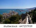 view from the top of gibralfaro ... | Shutterstock . vector #647257939