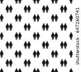 two girls lesbians pattern... | Shutterstock . vector #647260741