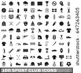 100 sport club icons set in... | Shutterstock .eps vector #647263405