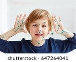 cute young boy  kid having... | Shutterstock . vector #647264041
