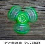 fidget spinner in motion. ...   Shutterstock . vector #647265685