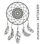hand drawn dreamcatcher with...   Shutterstock .eps vector #647266309