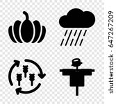 set of 4 autumn filled icons...   Shutterstock .eps vector #647267209