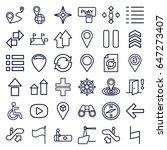 navigation icons set. set of 36 ...   Shutterstock .eps vector #647273407