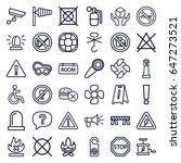 warning icons set. set of 36... | Shutterstock .eps vector #647273521
