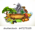 camping and adventure  3d... | Shutterstock .eps vector #647275105