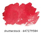 watercolor red stain isolated  | Shutterstock . vector #647279584